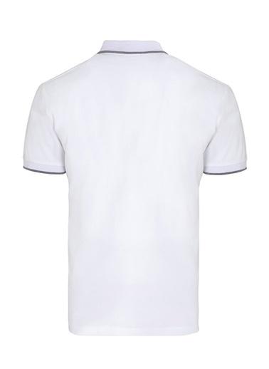 Hatemoğlu Baskılı Polo Yaka Tişört Beyaz